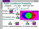 aside conditional probability