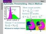 automatic thresholding otsu s method