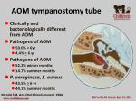 aom tympanostomy tube