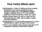 how media affects sport1