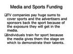 media and sports funding1