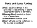 media and sports funding2