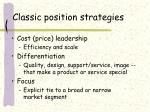 classic position strategies