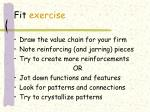 fit exercise