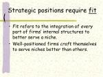 strategic positions require fit