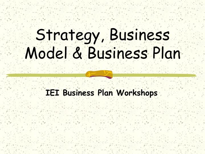 strategy business model business plan n.