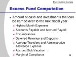 excess fund computation