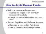 how to avoid excess funds