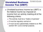 unrelated business income tax ubit