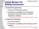 using banner for billing customers