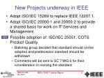 new projects underway in ieee