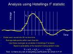 analysis using hotellings t 2 statistic
