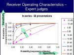 receiver operating characteristics expert judges