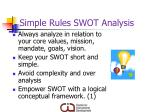 simple rules swot analysis1