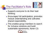 the facilitator s role