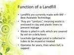 function of a landfill