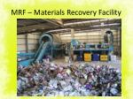 mrf materials recovery facility