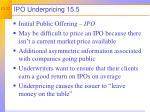 ipo underpricing 15 5