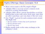 rights offerings basic concepts 15 8