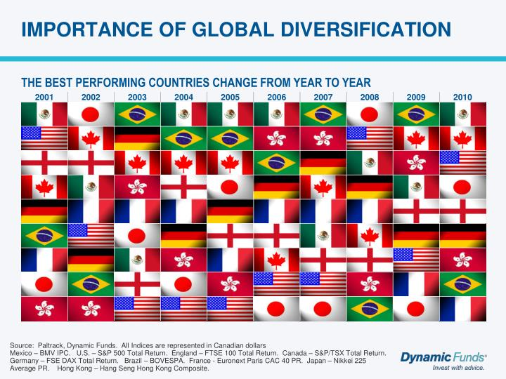 IMPORTANCE OF GLOBAL DIVERSIFICATION