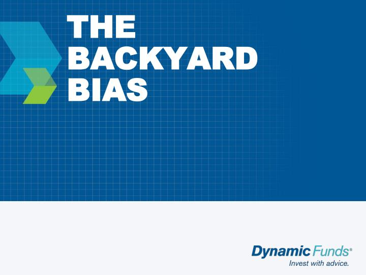The backyard bias