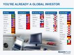 you re already a global investor