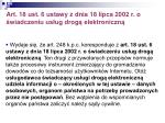 art 18 ust 6 ustawy z dnia 18 lipca 2002 r o wiadczeniu us ug drog elektroniczn
