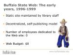 buffalo state web the early years 1996 1999