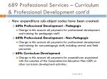 689 professional services curriculum professional development cont d