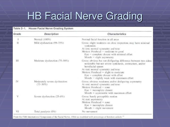 Were Facial nerve grading system
