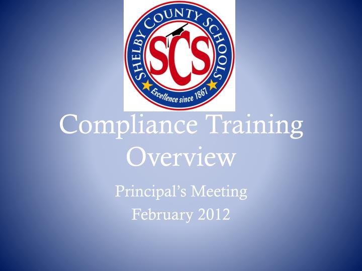 compliance training overview n.