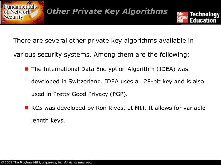 Other Private Key Algorithms