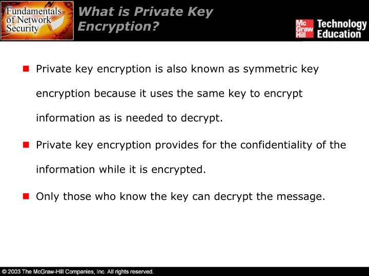 What is Private Key Encryption?
