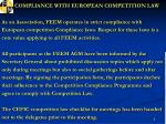 compliance with european competition law