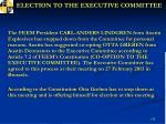 election to the executive committee