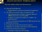 health and safety working group2