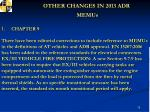 other changes in 2013 adr memus1