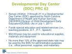 developmental day center ddc prc 63