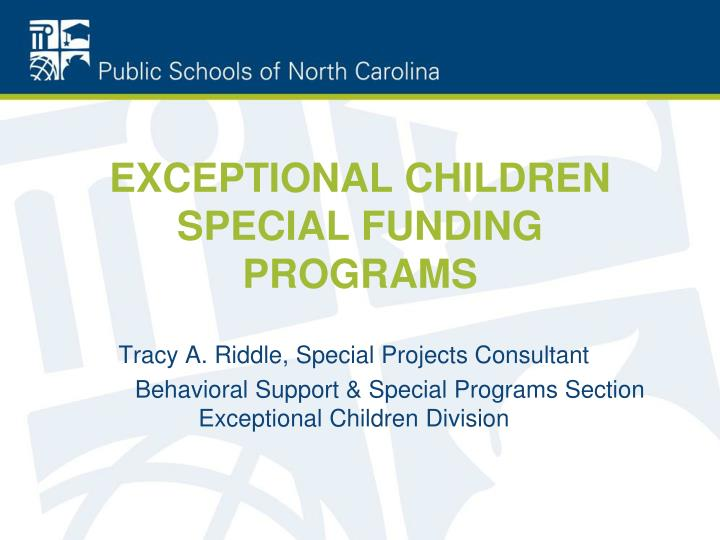 exceptional children special funding programs n.