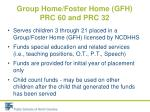 group home foster home gfh prc 60 and prc 321