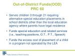 out of district funds ood prc 601