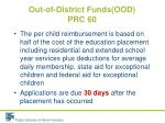 out of district funds ood prc 602