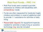risk pool funds prc 1141