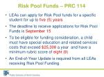risk pool funds prc 1142