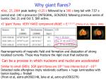 why giant flares