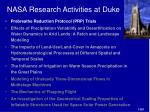 nasa research activities at duke