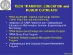 tech transfer education and public outreach