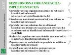 bezbednosna organizacija implementacija