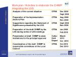 work plan activities to elaborate the chimp integrating the lsg