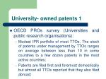 university owned patents 1